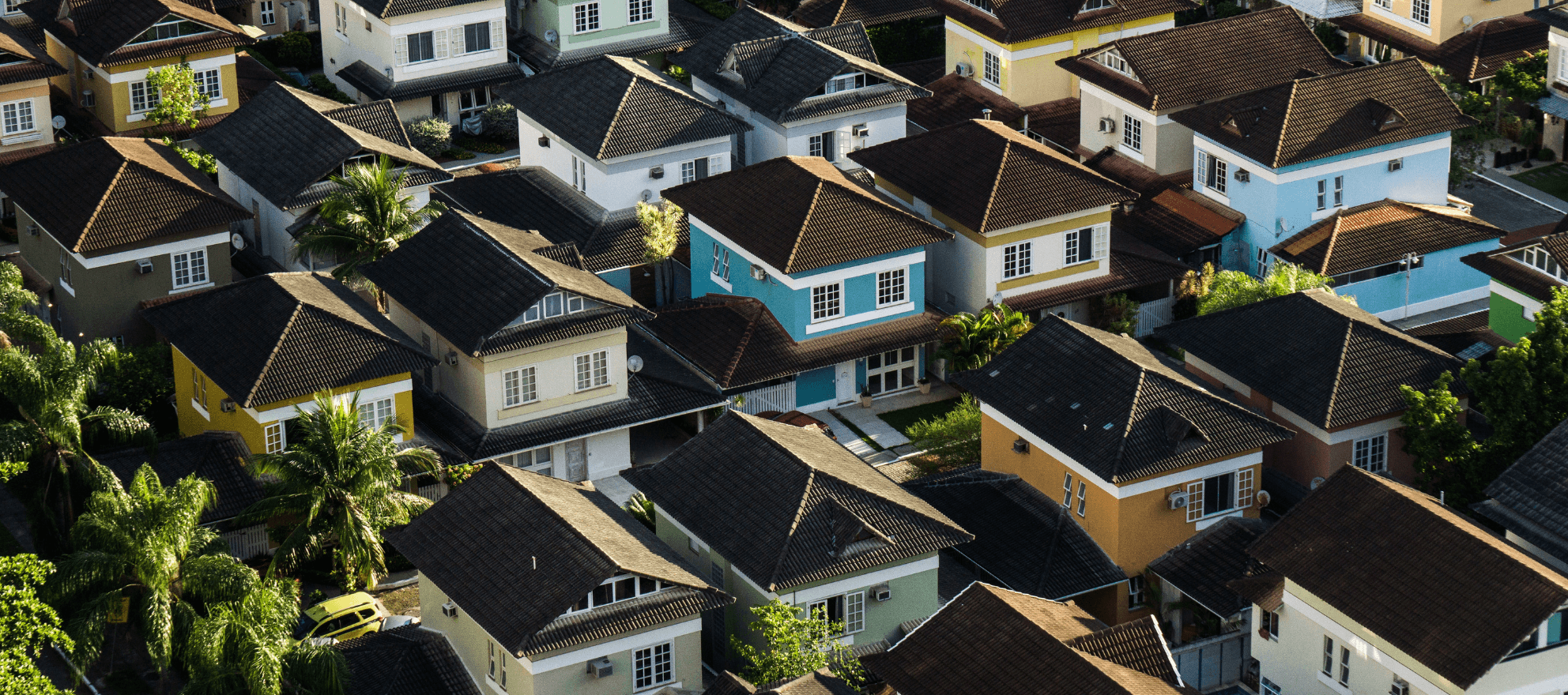 rows of colorful houses