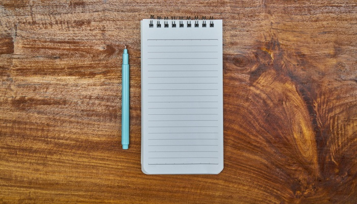 A notebook used to disclose real estate items.