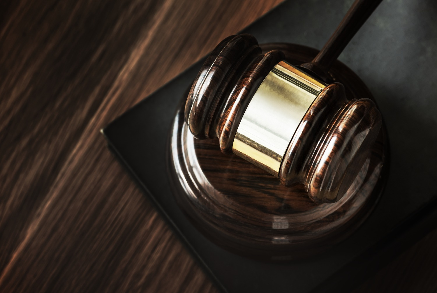 Gavel used in court for probate house sale.