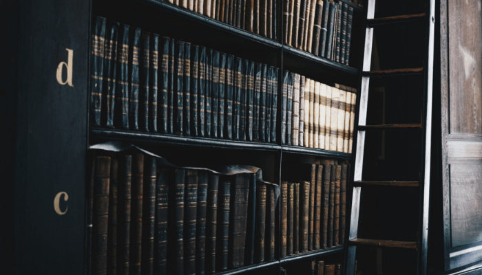 A library of books of house codes.