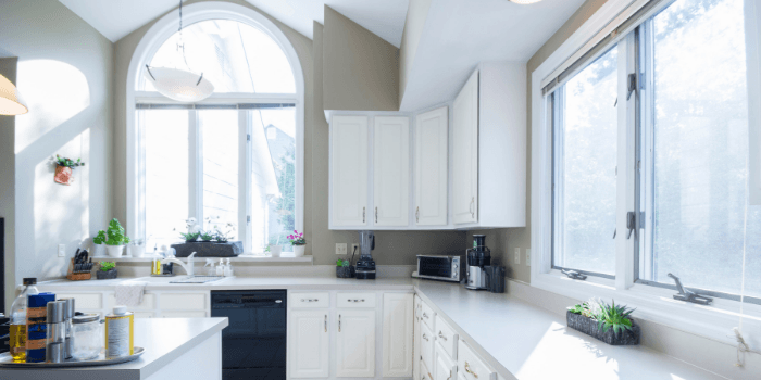 kitchen showing how to stage your home for photoso