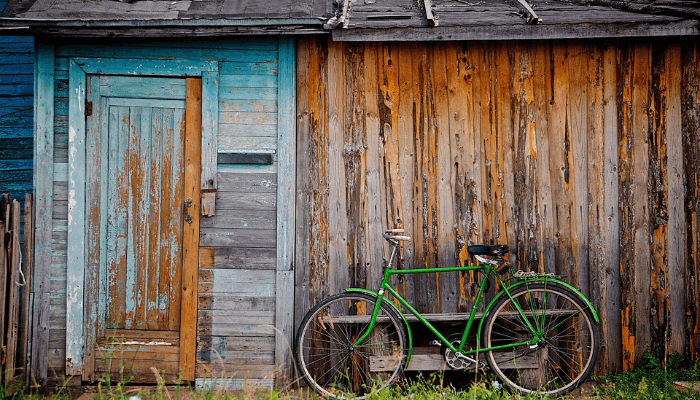A shed in a home without title or deed.