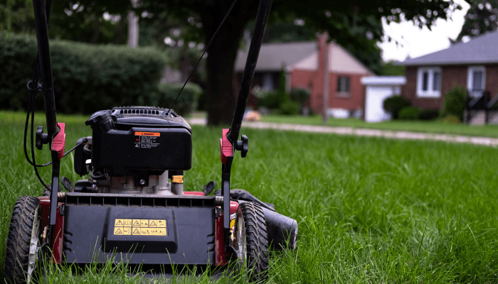 A lawnmower used to prepare for a home appraisal.
