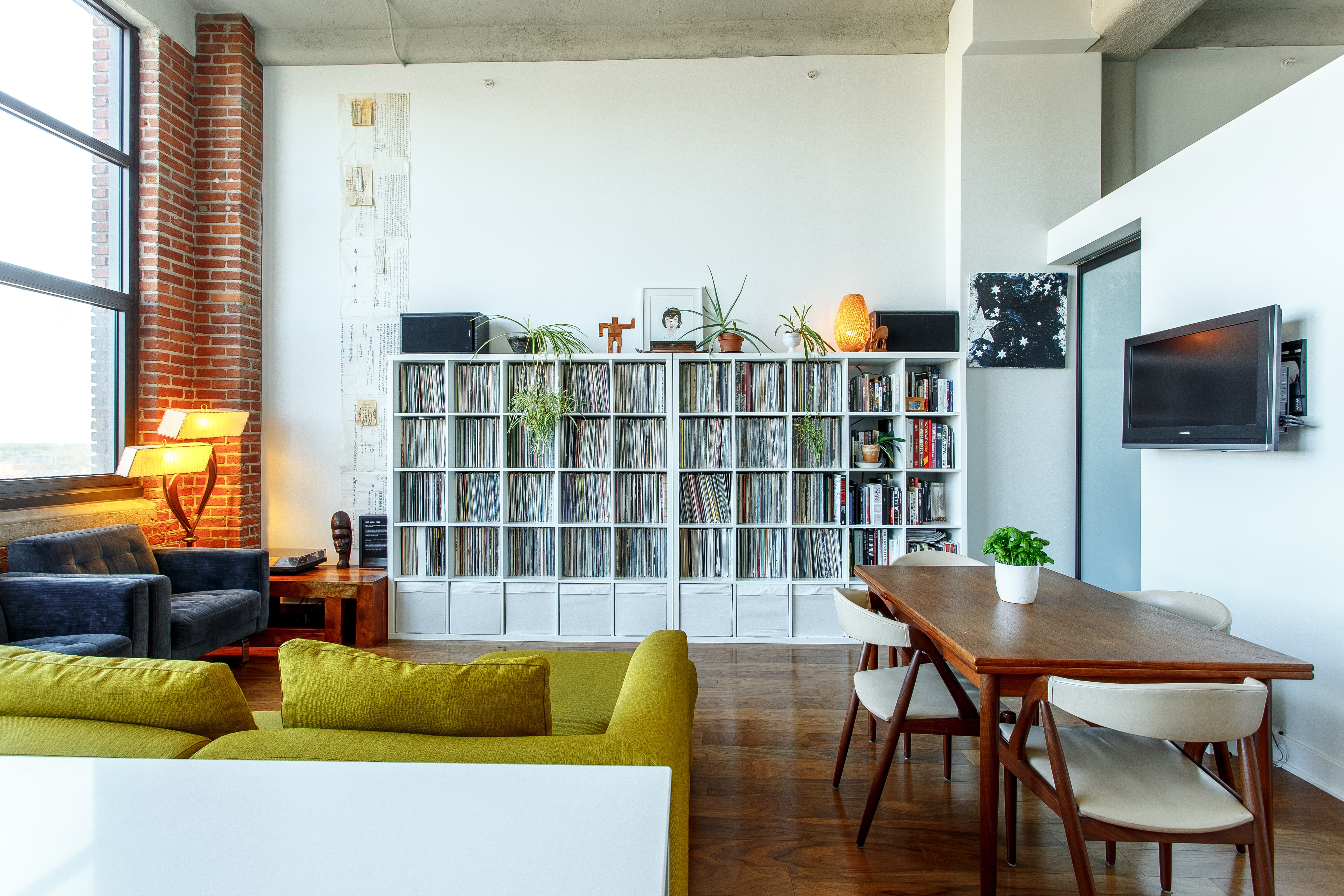 An apartment that has been staged.