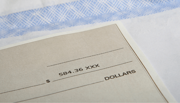 A check that a tenant has a right to when a house is for sale.