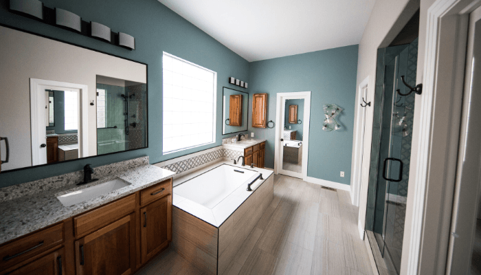 A bathroom that needed tlc from a home buyer.