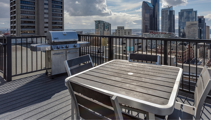 A balcony you can ask about during an open house.