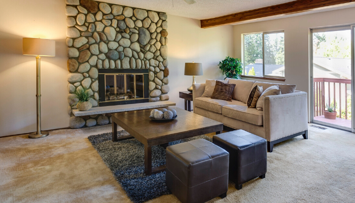A living room you can ask about during an open house.