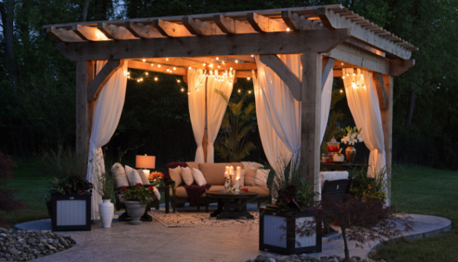 A pergola used to increase curb appeal.
