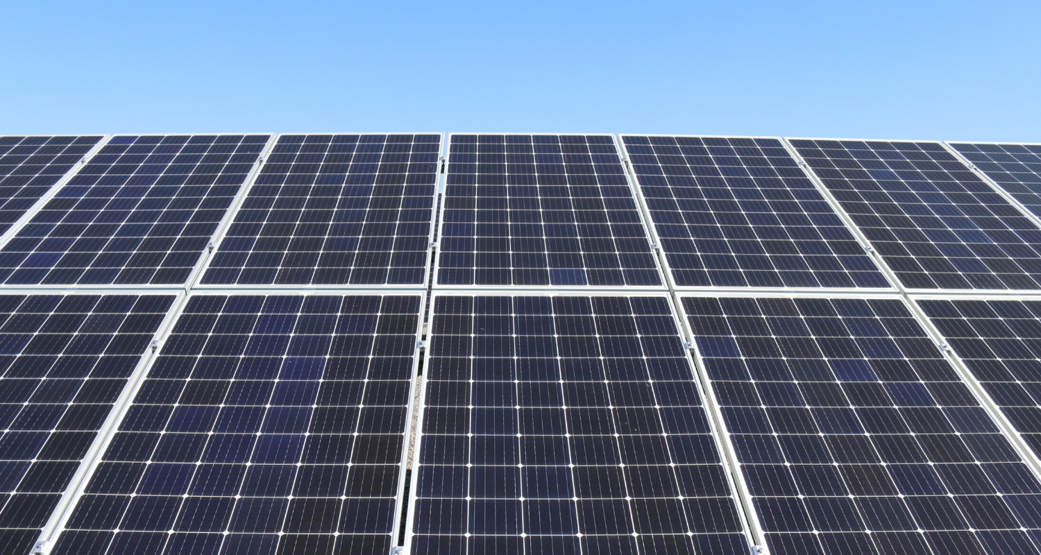 A close-up view of solar panels, which may increase your property value.