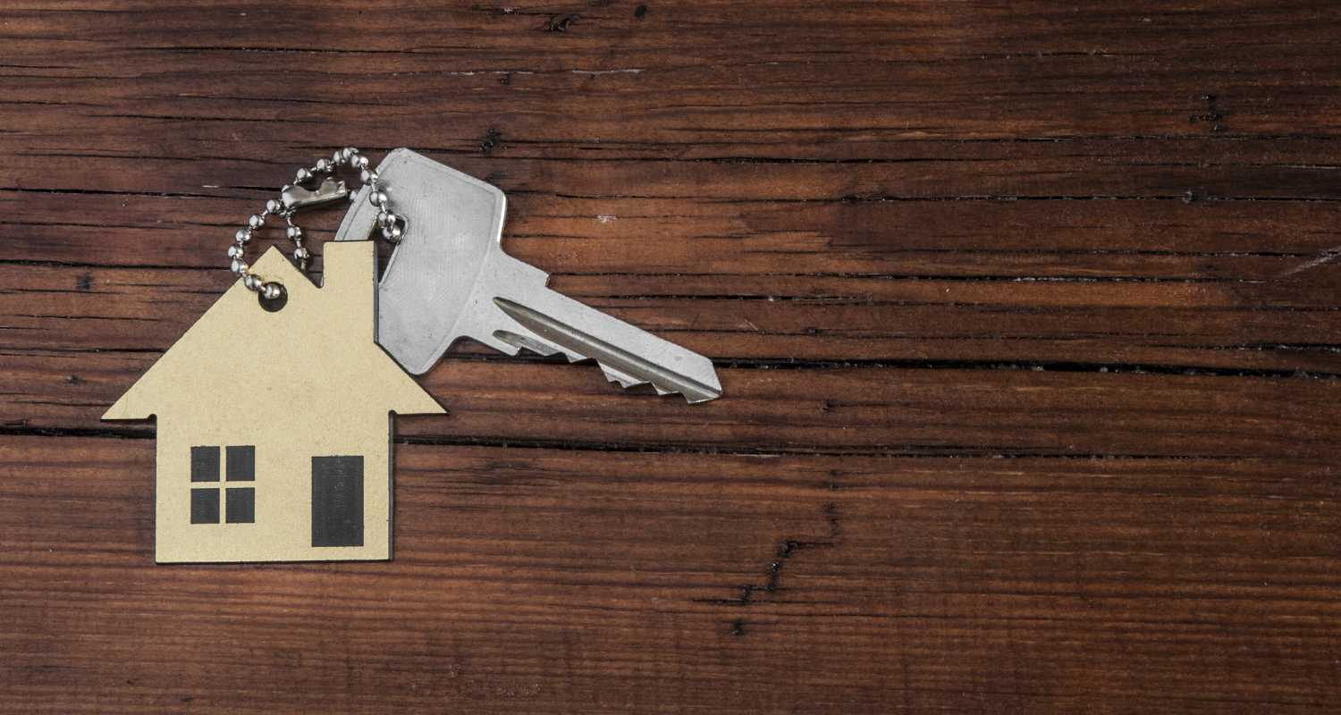 Keys that a buyer will get at closing.