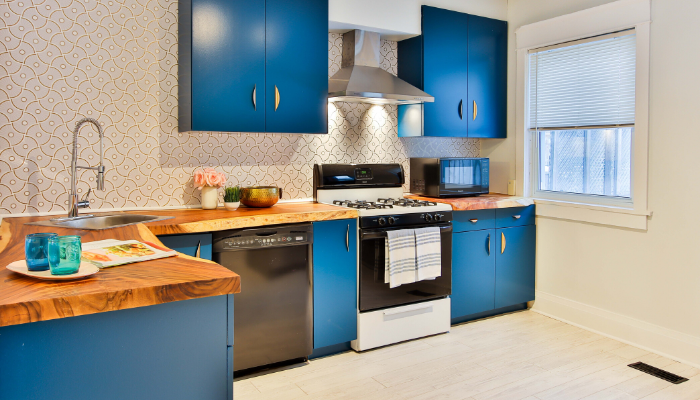 A kitchen that has been remodeled.