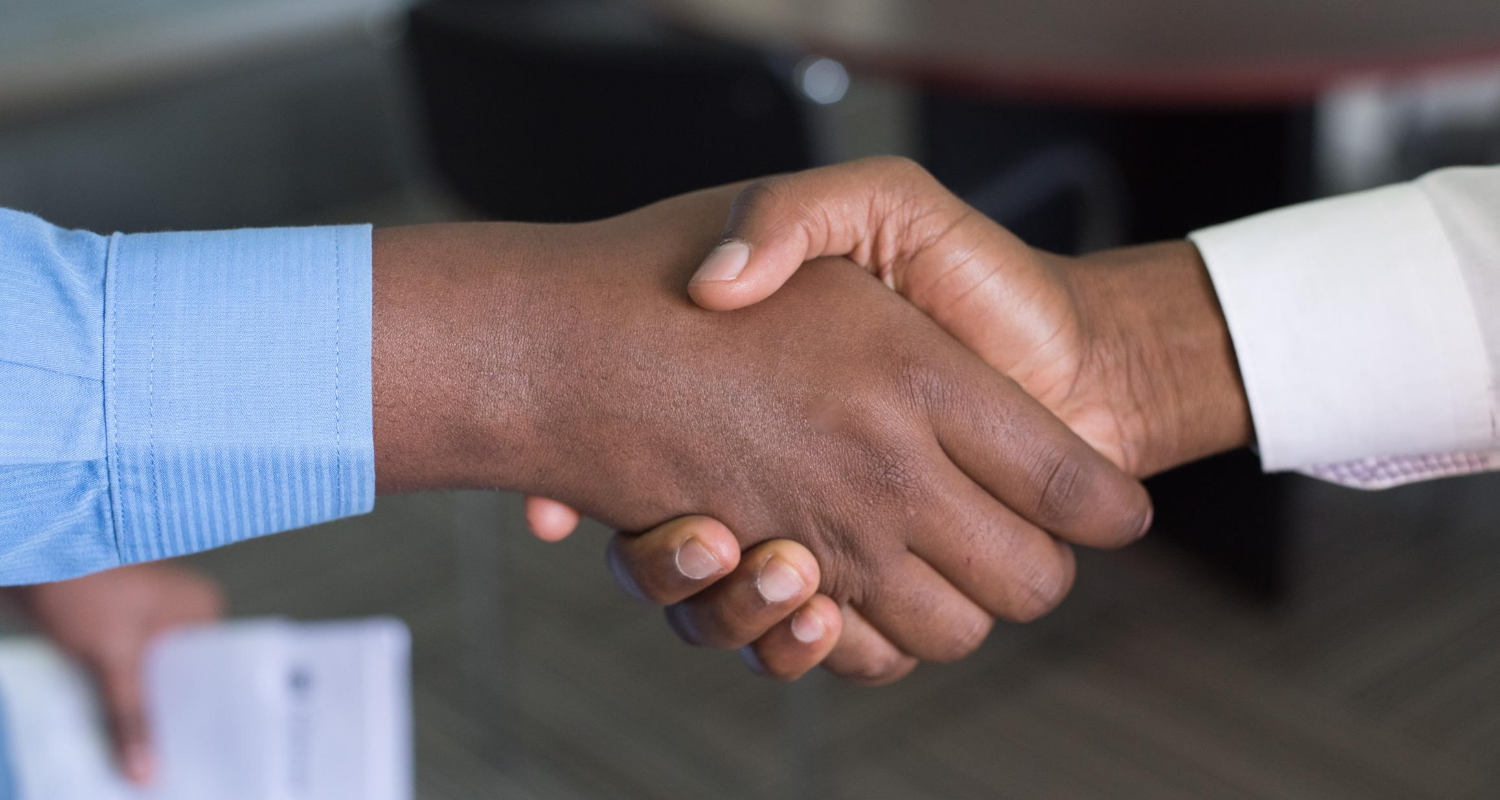 A handshake represents the exclusive right-to-sell agreement between sellers and their agents.