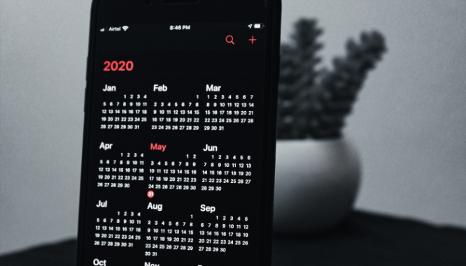 A calendar used during a multiple offer situation.