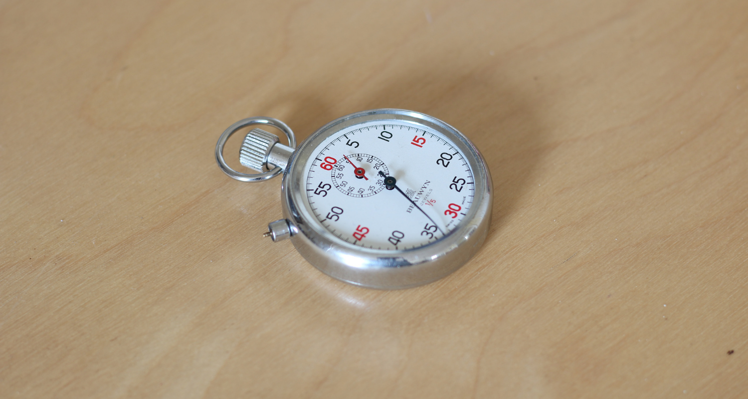A stopwatch measuring how fast a home will sell.