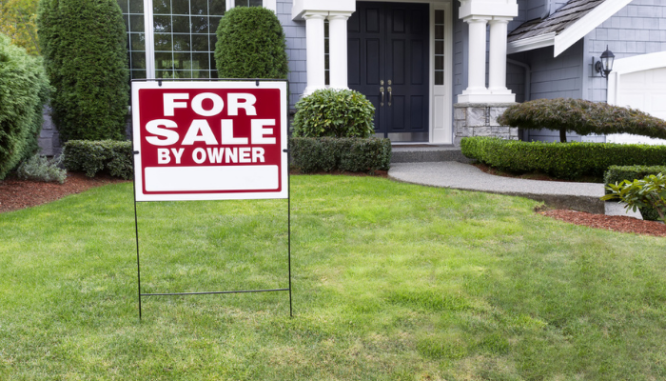 A sign used when selling a house without a Realtor.