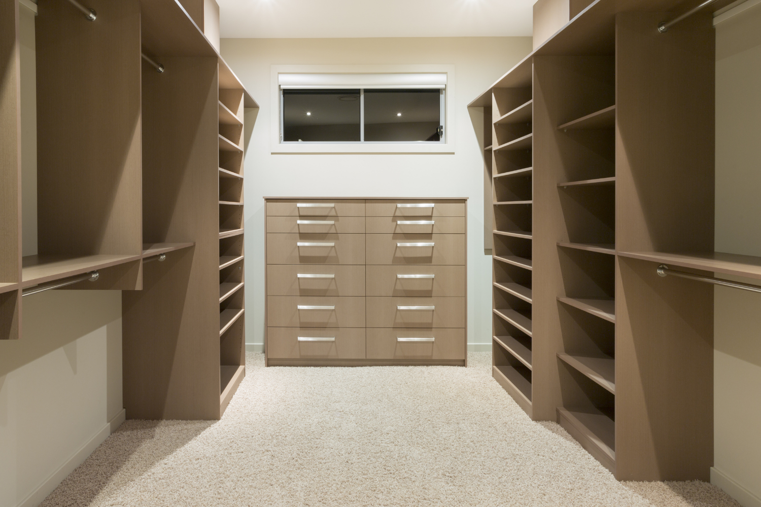 An image of a walk in closet used to demonstrate how much a custom closet costs.