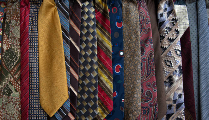 An image of ties to demonstrate how much a custom closet costs.