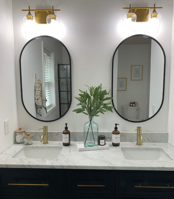 A bathroom remodel that was remodeled.