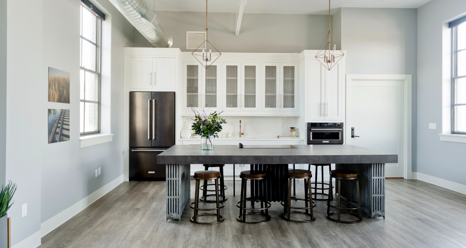 A kitchen in house with a home warranty.