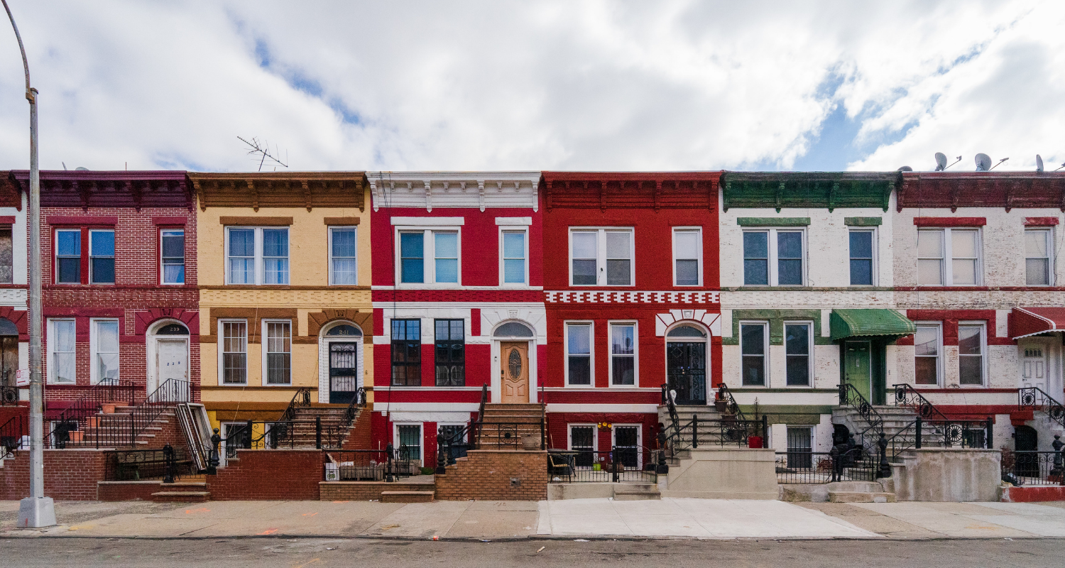 Row houses that you can invest in as rental property.