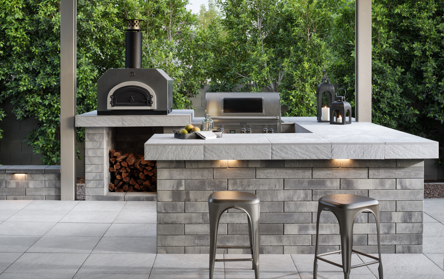 An outdoor kitchen you can purchase for a reasonable cost.