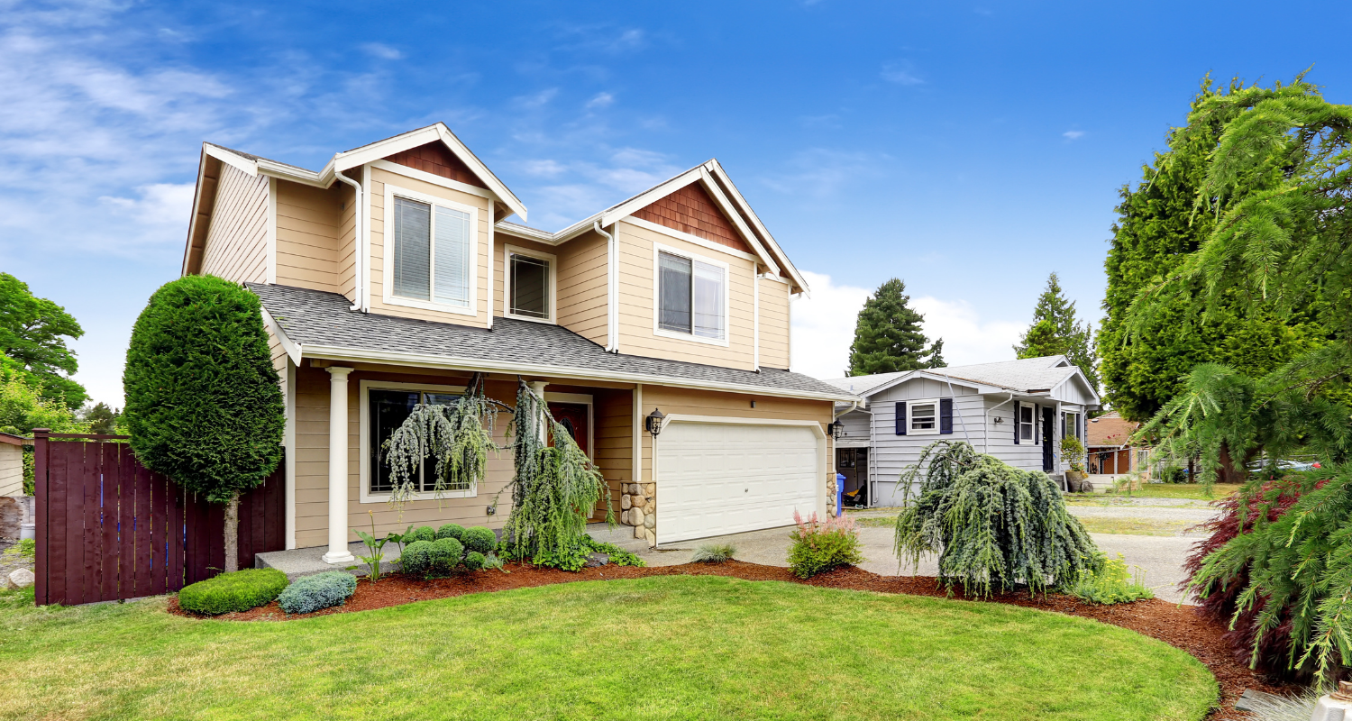 An image of a suburban house to demonstrate the differences between a sellers vs buyers market.