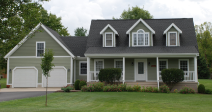 A two-story frame home, which may not sell before the real estate listing agreement expires.