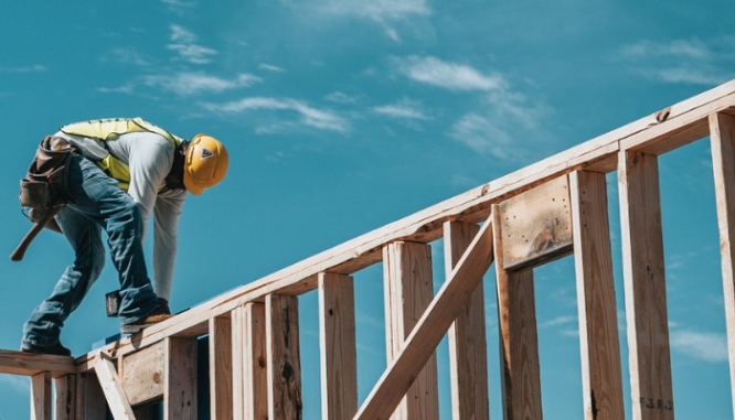 A builder constructs the framing, which is one of the steps to building a house.