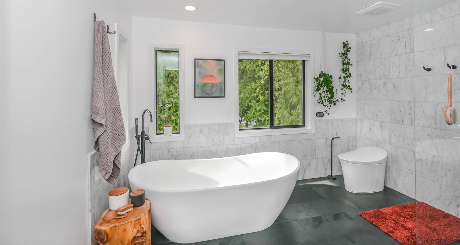 A bathroom that was recently remodeled.