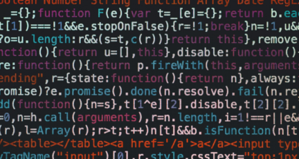 A computer screen displays lines of code used to build online appraisals.