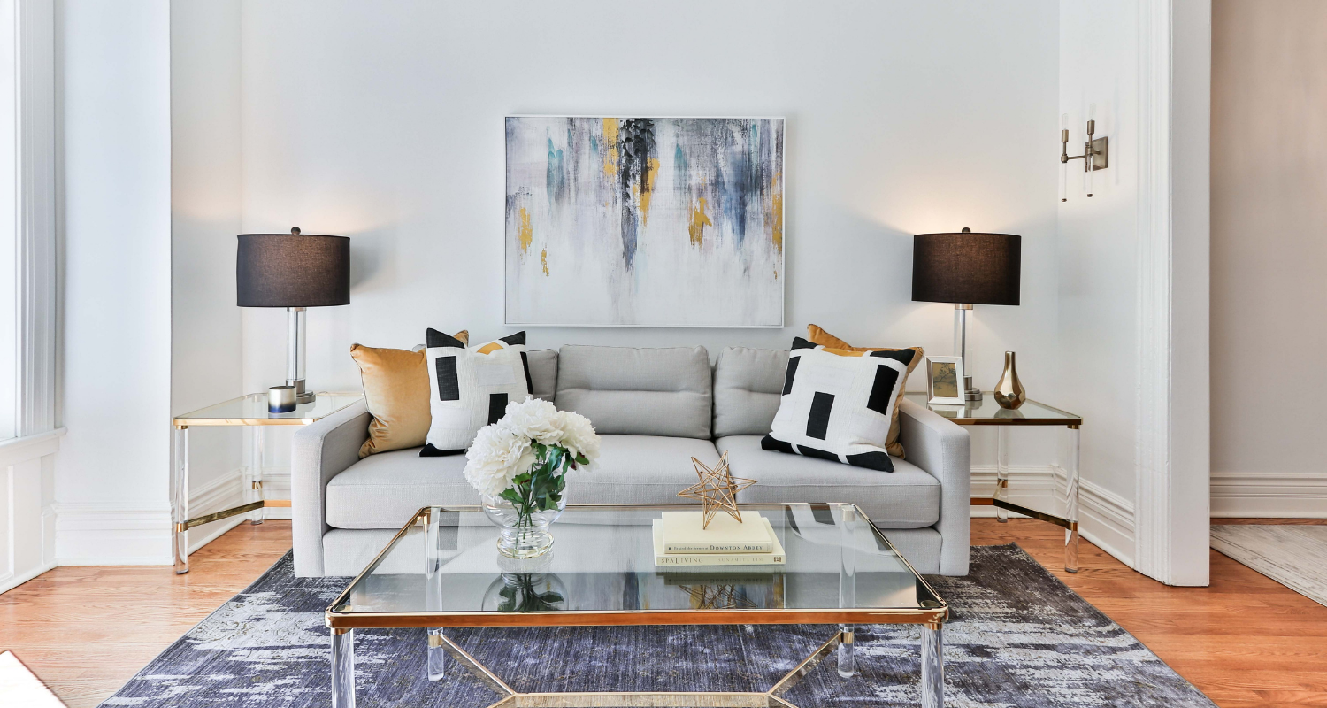Living room furniture that you might need to price when selling a house.