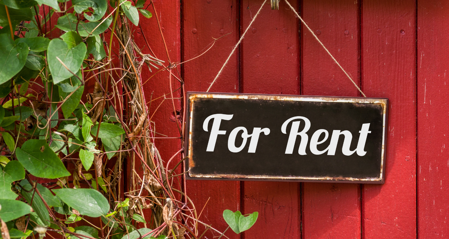 A for rent sign, that you might see when renting after selling.